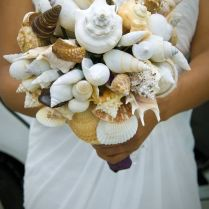 Seashell Bouquet, Wedding Bouquet, Beach Wedding, Beach Bouquet