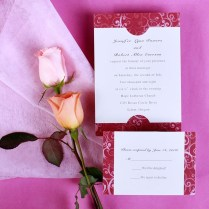 Simple Frame Wedding Invitations Aus040