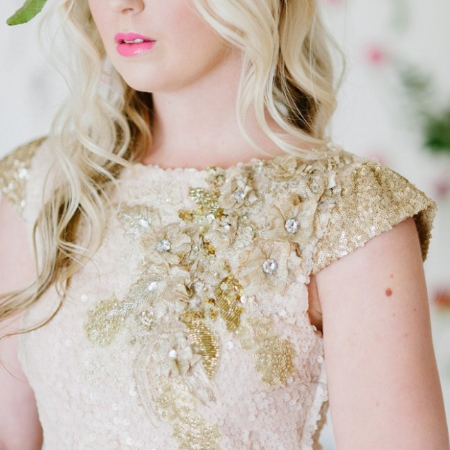 Soft Pink And Gold Wedding Dress Inspiration {debbie Lourens