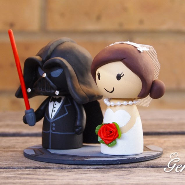 Star Wars Wedding Cake Toppers Etsy