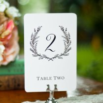 Sweet Vintage Wedding Table Number Signs 1