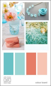 Teal And Coral Beach Wedding Please