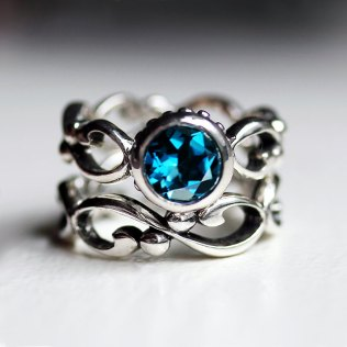 Teal Engagement Rings