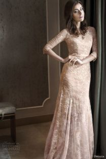 The Key Bridal Trend 2015 22 Nude Lace Wedding Gowns