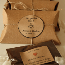 The Perfect Blend Coffee Wedding Favors Set Of 20 With Coffee