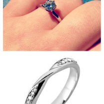 Tiffany Solitaire With Flush Wedding Band