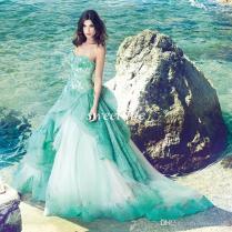 Turquoise Beach Wedding Dresses