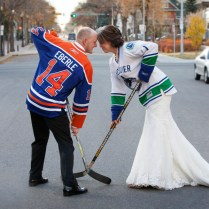 Vintage And Canadian Hockey Themed Wedding