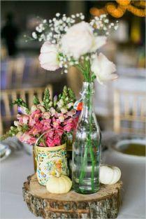 Vintage Wedding Table Centerpieces