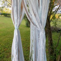 Wedding Backdrop Garland Garden Wedding Outdoor By Dorothysrubies