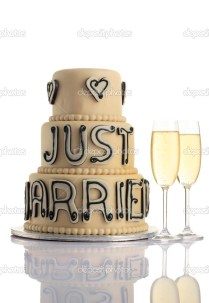 Wedding Cake And Champagne — Stock Photo © Gzorgz 6209650