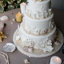 Wedding Cake Beach Themed Entrancing Beach Themed Wedding Cake