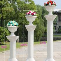 Wedding Decorations White Plastic Roman Columns Road Cited For