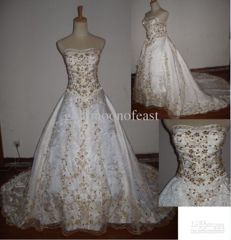 Ivory Wedding Dress With Gold Embroidery,Wedding Dress Utah
