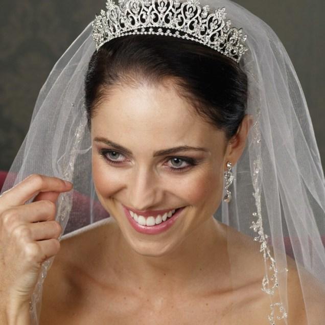Wedding Dresses And Veils And Tiaras