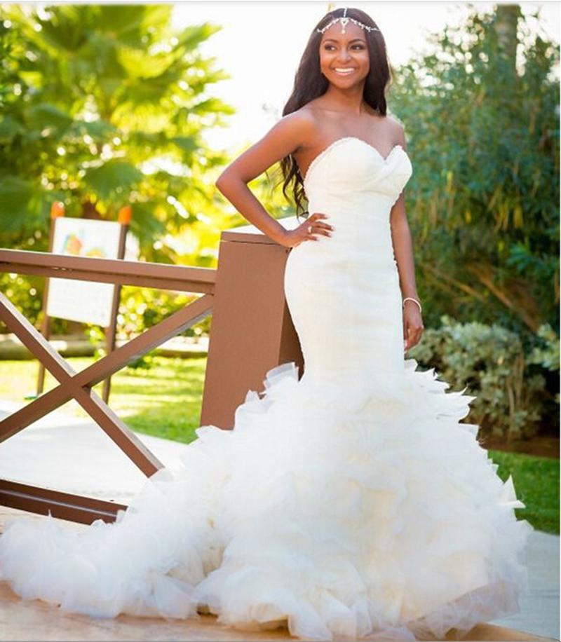 Wedding Dress For Black Women,Steven Khalil Mermaid Wedding Dress