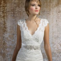 Wedding Dresses Lace Cap Adorable Cap Sleeve Wedding Gowns