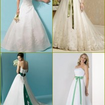 Wedding Dresses With Green In Them