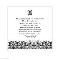 Wedding Gift Card Registry Wording