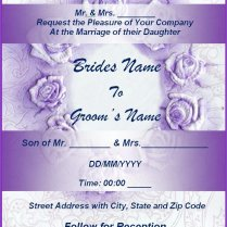 Wedding Invitation Card Template Microsoft Word