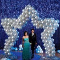Wedding Party Backdrop Tinsel Curtain 1m 2m Hanging Stripes Pub