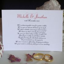 Wedding Poems For Invitations About Gifts
