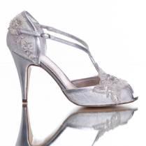 Wedding Shoe Charlotte In Ivory Lace By Rachel Simpson