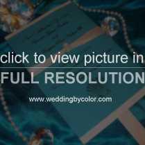 Wedding Tag Aqua Blue