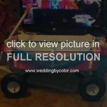 Wedding Tag Flower Girl Wagon