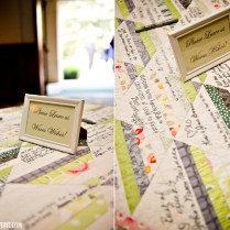 Wedding Talk Quilt Guest Book