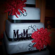 Weddings Black Red And Silver