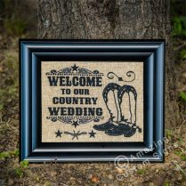Welcome To Our Country Wedding – Boots Design