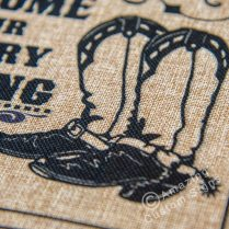 Welcome To Our Country Wedding – Boots Design 8x10