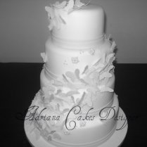 White Butterfly Wedding Cake