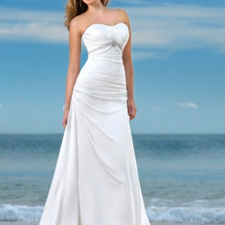 White Dress For Wedding On Beach