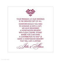 Wording For Gift List On Wedding Invitations