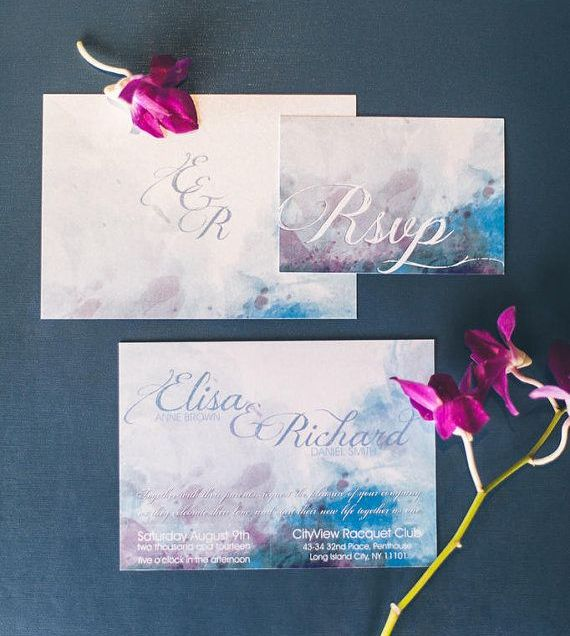1000 Ideas About Watercolor Wedding Invitations On Emasscraft Org