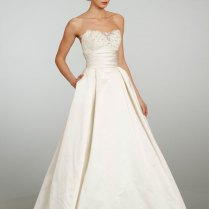 1000 Images About Satin Taffeta Dupioni Wedding Dresses With Lace