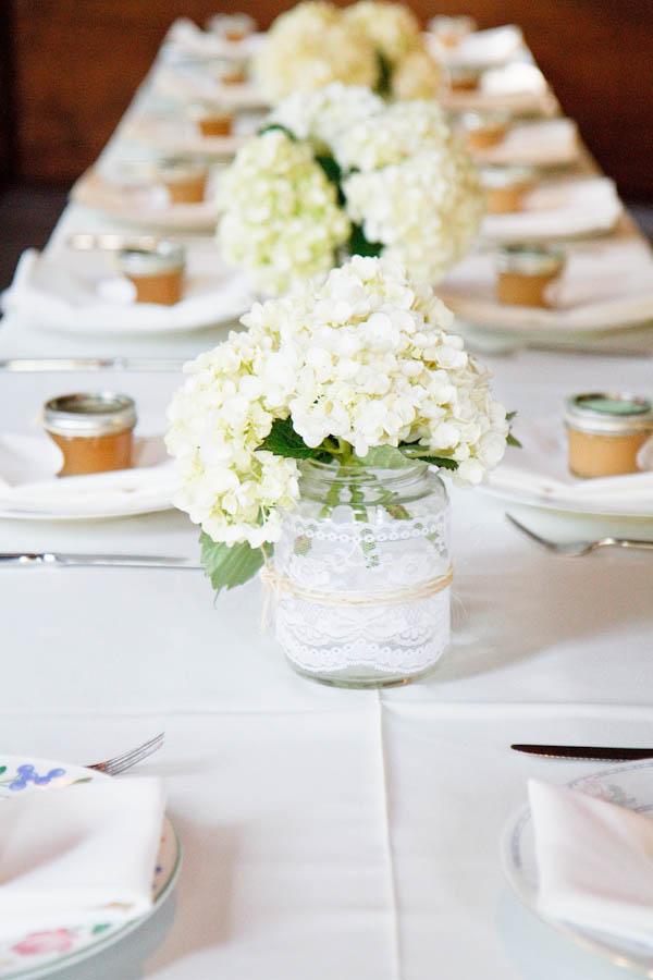 Rustic Barn Wedding Centerpieces