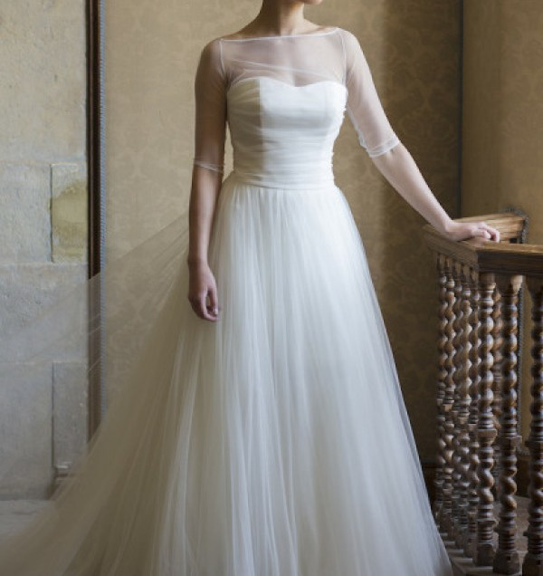 14 Incredible Illusion Neckline Wedding Dresses