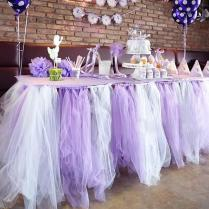 150cm Width Romantic Table Cover For Wedding Party Diy Organza