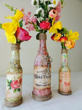 20 Creative Wine Bottle Centerpieces