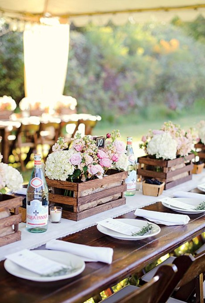 Wooden Table Decorations Wedding