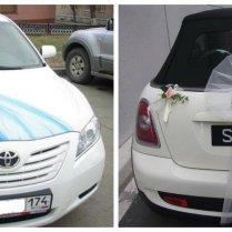 4 Tulle Fabric Wedding Car Decoration Idea
