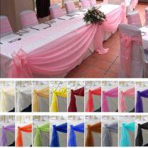 5m 1 35m Top Table Swags Sheer Organza Fabric Diy Wedding Party