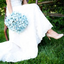 A Blue Wedding Flowers Are Personification Of Eternity