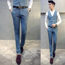 Aliexpress Com Buy 3piece Men Suit New Korean Slim Fit Elastic