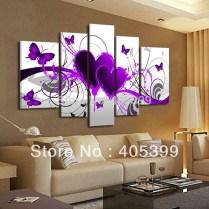 Aliexpress Com Buy 5pcs Purple Heart Design !100 Handmade