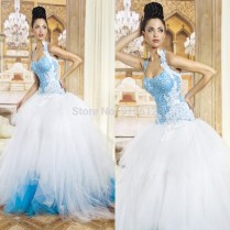 Aliexpress Com Buy New Style Gorgeous Halter Ball Gown Lace