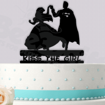 Ariel And Superman Kiss The Girl Event Wedding Cake Topper